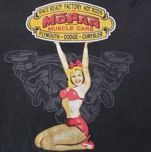 Vintage Distressed pin-up girl Mopar Tee shirt